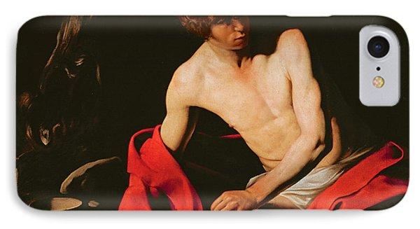 Saint John The Baptist IPhone Case by Michelangelo Caravaggio