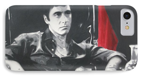 Scarface IPhone Case by Luis Ludzska