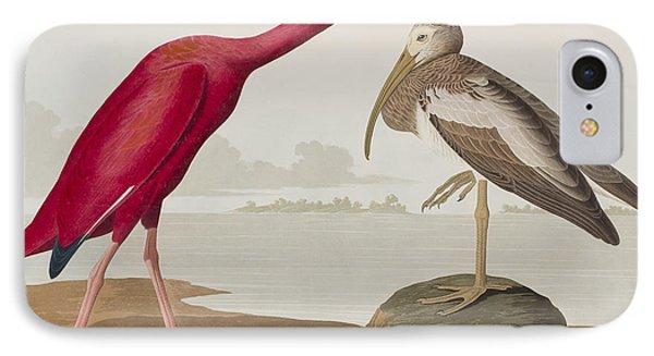 Scarlet Ibis IPhone 7 Case by John James Audubon