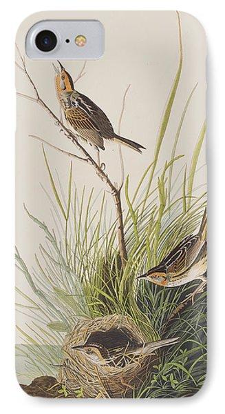 Sharp Tailed Finch IPhone Case by John James Audubon