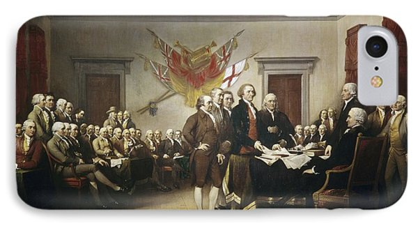 Signing The Declaration Of Independence IPhone Case by John Trumbull