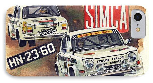 Simca 1000 Rallye 2 IPhone Case by Yoshiharu Miyakawa