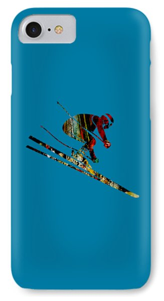 Skiing Collection IPhone Case by Marvin Blaine