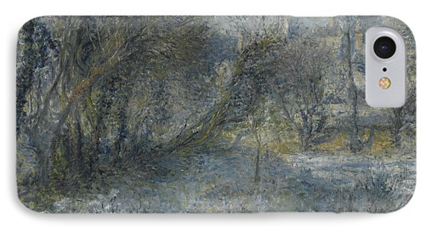 Snow Covered Landscape IPhone Case by Auguste Renoir