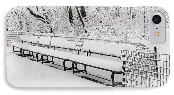 Snow In Central Park Nyc IPhone Case by Susan Candelario