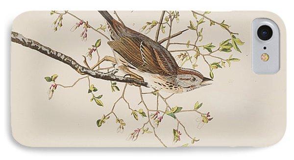 Song Sparrow IPhone Case by John James Audubon