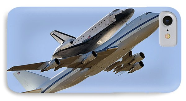 Space Shuttle Endeavour Mounted IPhone Case by Stocktrek Images