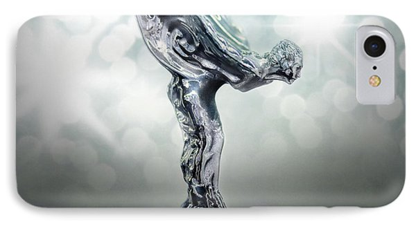 Spirit Of Ecstasy Silver  IPhone Case by Garland Johnson