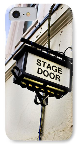 Stage Door Sign IPhone Case by Tom Gowanlock