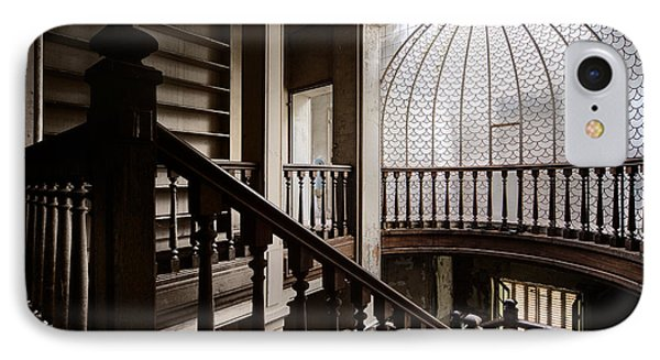 Dome Of Light - Abandoned Building IPhone Case by Dirk Ercken