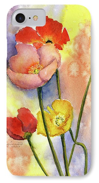 Summer Poppies Phone Case by Vickey Swenson