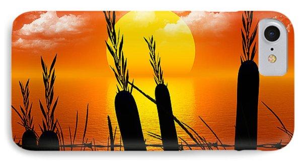 Sunset Lake Phone Case by Robert Orinski