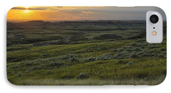 Sunset Over Killdeer Badlands IPhone Case by Robert Postma