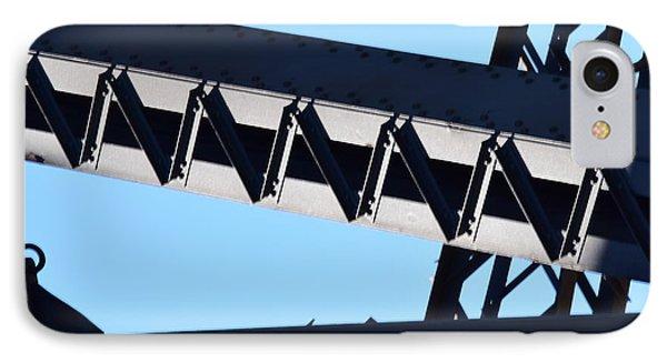 Sydney Harbour Bridge Detail No. 2 IPhone 7 Case by Sandy Taylor
