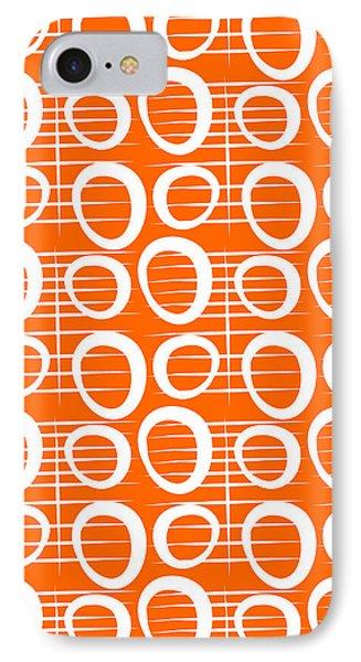 Tangerine Loop IPhone Case by Linda Woods