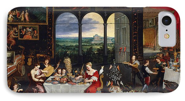 Taste, Hearing And Touch IPhone Case by Jan Brueghel the Elder