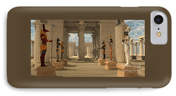 Temple Of Ancient Pharaohs IPhone Case by Corey Ford