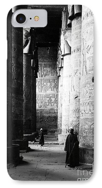 Temple Of Hathor, Early 20th Century IPhone Case by Science Source