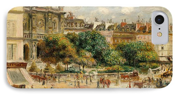 The Banks Of The Seine At Bougival IPhone Case by Pierre Auguste Renoir