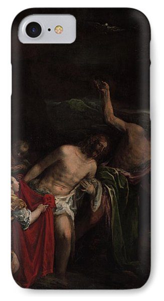 The Baptism Of Christ IPhone Case by MotionAge Designs