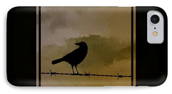 The Black Crow Knows IPhone Case by Edward Fielding