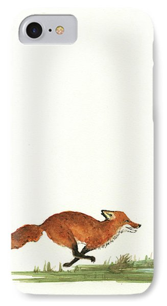 The Fox And The Pelicans IPhone Case by Juan Bosco