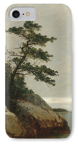 The Old Pine Darien Connecticut IPhone Case by John Frederick Kensett