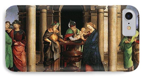 The Presentation In The Temple IPhone Case by Raffaello Sanzio