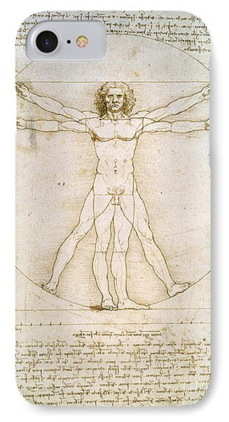 The Proportions Of The Human Figure IPhone Case by Leonardo da Vinci