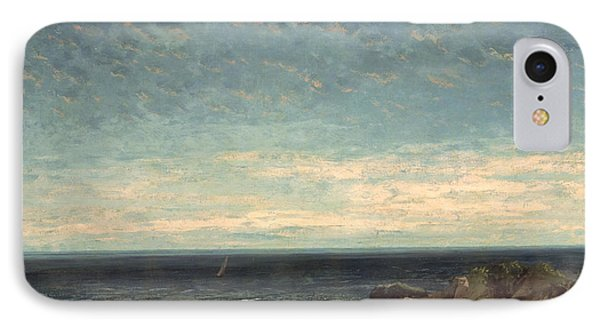 The Sea Phone Case by Gustave Courbet