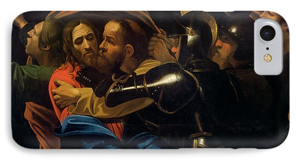 The Taking Of Christ IPhone Case by Michelangelo Caravaggio