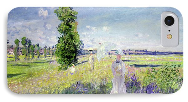 The Walk IPhone Case by Claude Monet