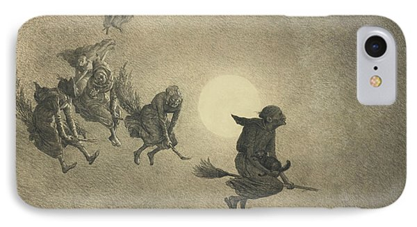 The Witches' Ride IPhone Case by William Holbrook Beard
