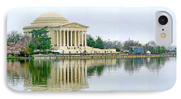 Tidal Basin With Cherry Blossoms IPhone Case by Jack Schultz