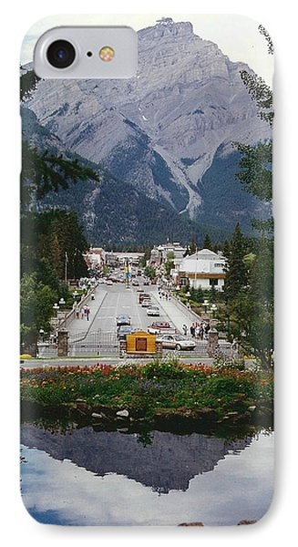 Town Of Banff Phone Case by Shirley Sirois