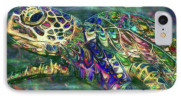 Tropical Sea Turtle 2 IPhone Case by Jack Zulli