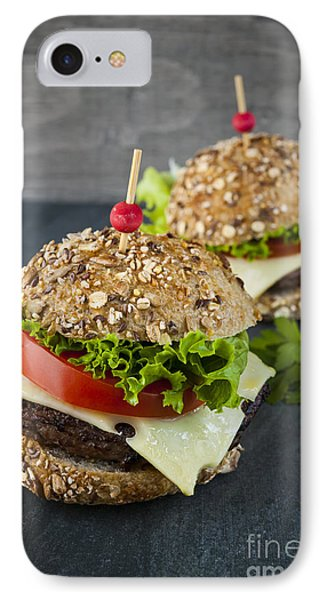 Two Gourmet Hamburgers IPhone Case by Elena Elisseeva