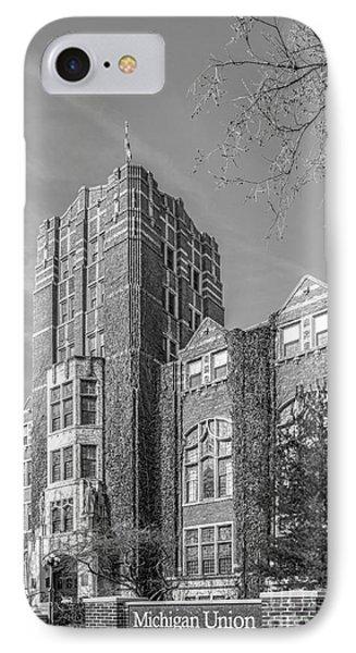 University Of Michigan Union IPhone Case by University Icons