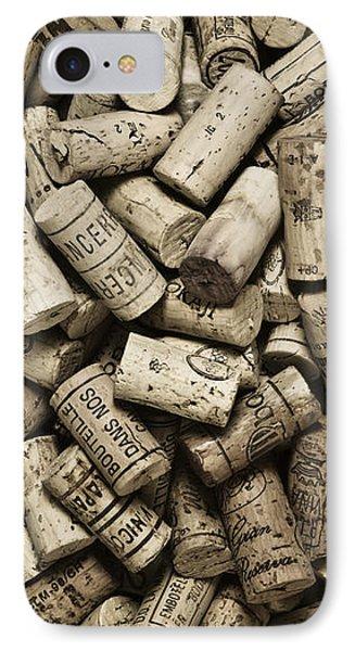 Vintage Wine Corks IPhone Case by Frank Tschakert