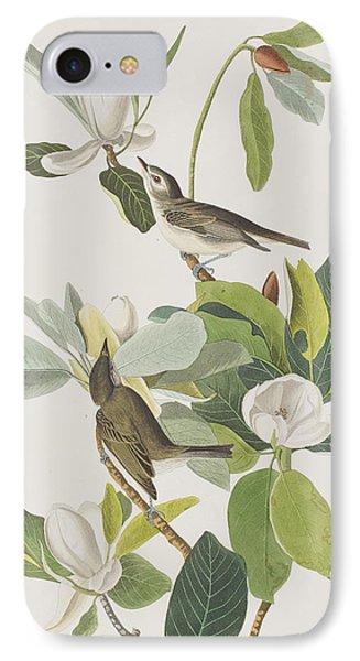 Warbling Flycatcher IPhone Case by John James Audubon