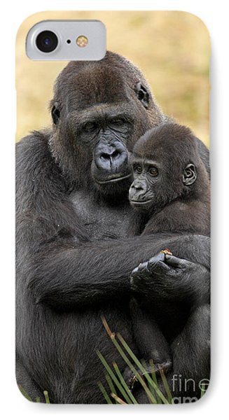 Western Gorilla And Young IPhone 7 Case by Jurgen & Christine Sohns/FLPA