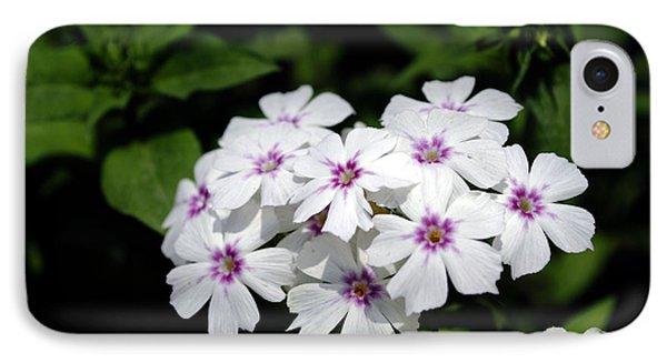 White Flowers IPhone Case by Sumit Mehndiratta