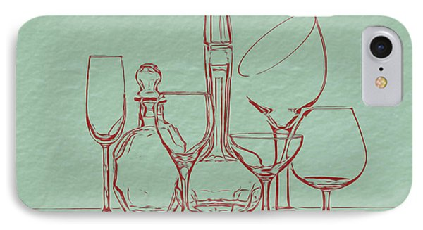 Wine Decanters With Glasses IPhone Case by Tom Mc Nemar