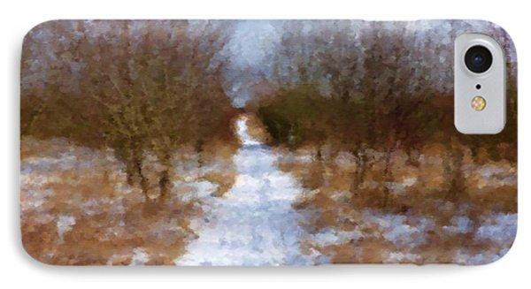 Winter Path IPhone Case by Miroslav Nemecek