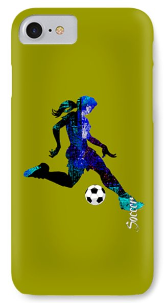 Womens Girls Soccer Collection IPhone Case by Marvin Blaine
