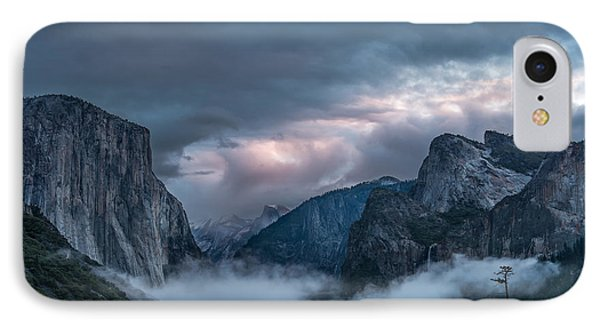Yosemite In Clouds IPhone Case by Bill Roberts