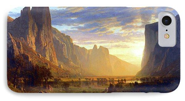 Yosemite Valley IPhone Case by Albert Bierstadt