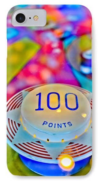 100 Points - Pinball IPhone Case by Colleen Kammerer