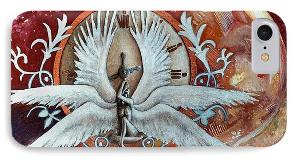 Seraphim Next To A Drop IPhone Case by Ramona Boehme