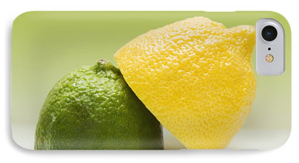 12 Organic Lemon And 12 Lime IPhone Case by Marlene Ford
